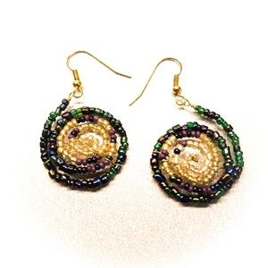 Jewelry - Galaxy Within Beaded Earrings for Pierced Ears